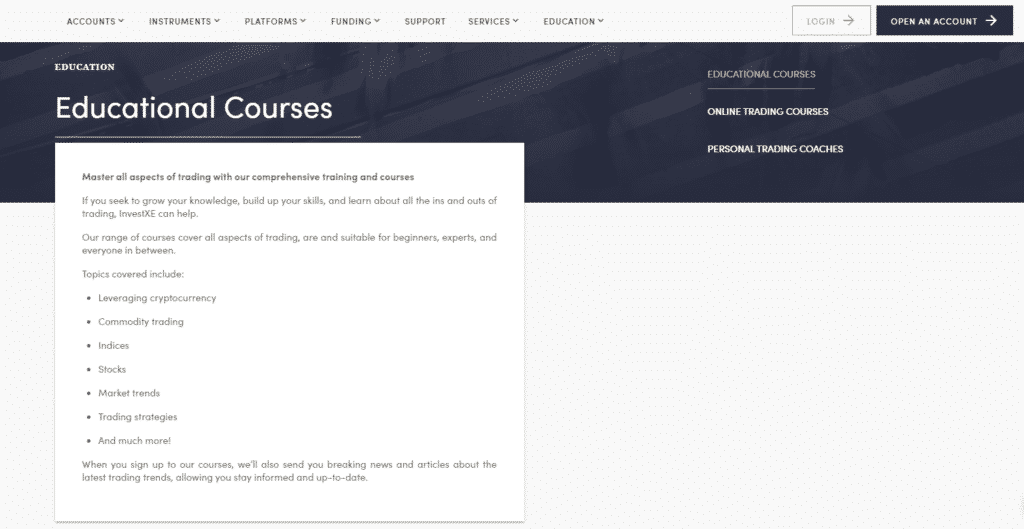 Learn Trading with InvestXE Educational Courses